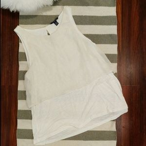 NWOT American Eagle Layered Tank Top Sparkling